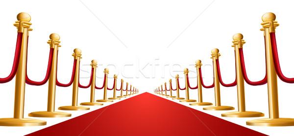Velvet rope and red carpet illustration Stock photo © Krisdog