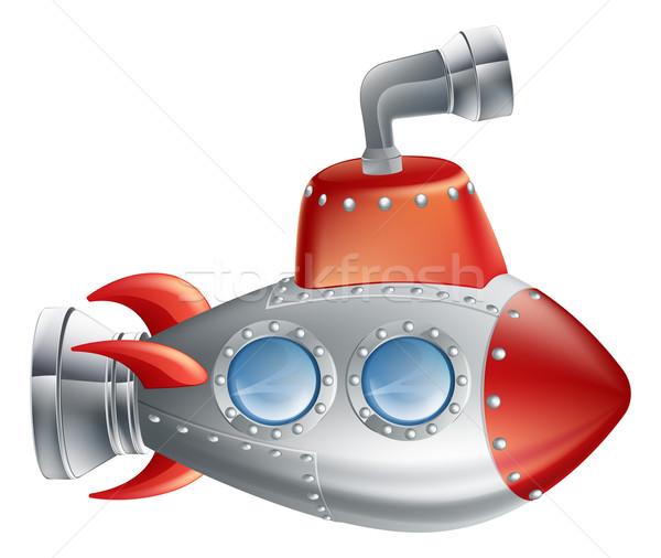весело Cartoon подводная лодка рисунок Cute иллюстрация Сток-фото © Krisdog