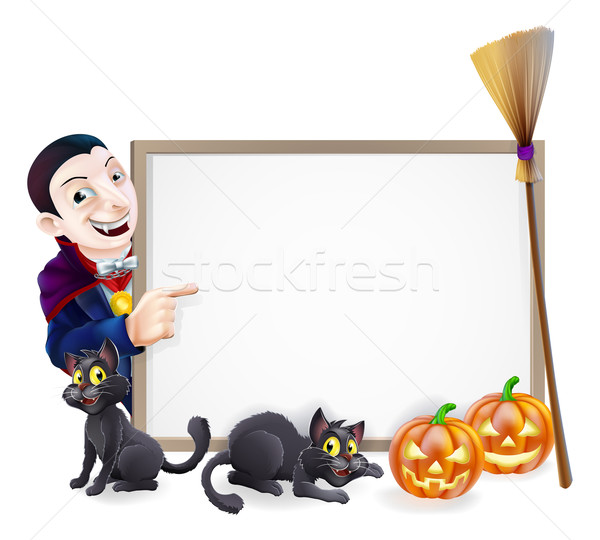 Halloween Dracula Sign Stock photo © Krisdog