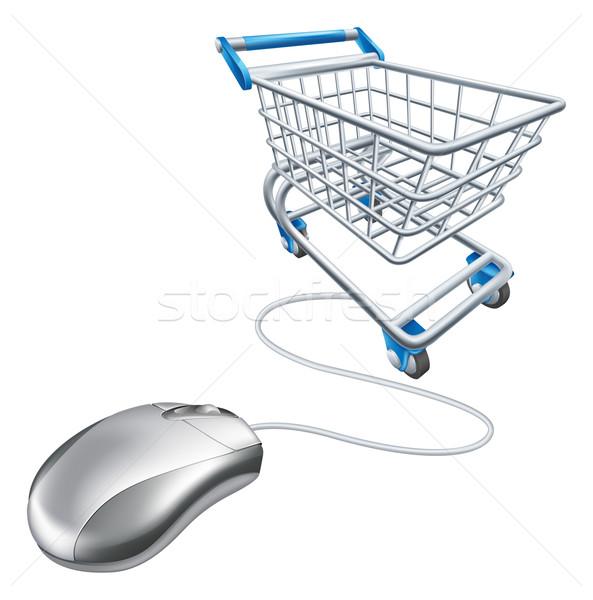 Mouse shopping cart Stock photo © Krisdog