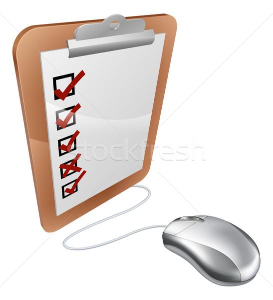Online internet survey mouse Stock photo © Krisdog