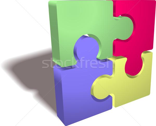 Jigsaw puzzle Stock photo © Krisdog