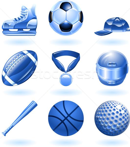 Shiny sports icon set series  Stock photo © Krisdog