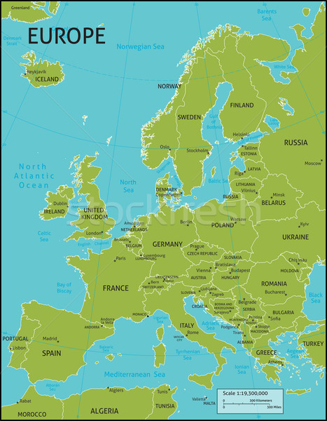 Map of Europe Stock photo © Krisdog