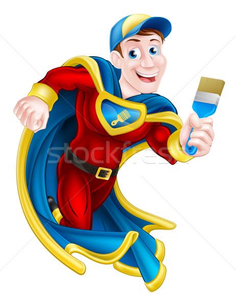 Superhero Decorator Stock photo © Krisdog