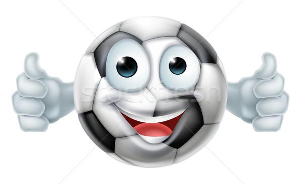 Cartoon Football Ball Man Character Stock photo © Krisdog