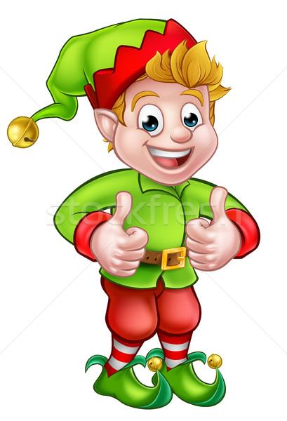 Cute Cartoon Christmas Elf Stock photo © Krisdog