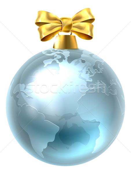 Christmas cacko świecie świat ziemi ilustracja Zdjęcia stock © Krisdog