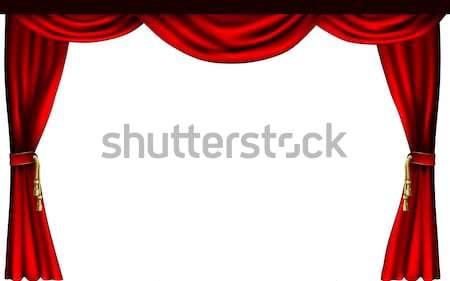 Theatre or cinema curtains Stock photo © Krisdog