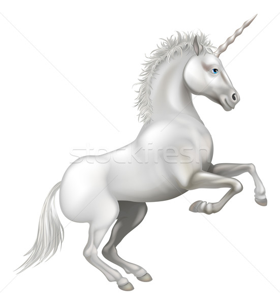 Cartoon Unicorn Stock photo © Krisdog