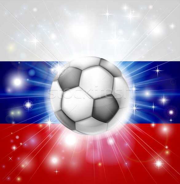 Russian soccer flag Stock photo © Krisdog