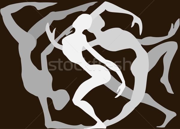 Dançarinos dança em torno de outro mulher abstrato Foto stock © Krisdog