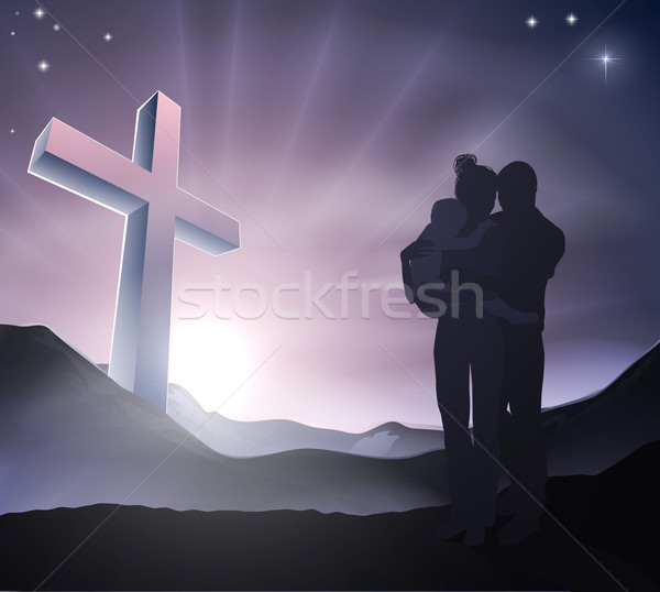 Christian Easter Family Concept Stock photo © Krisdog