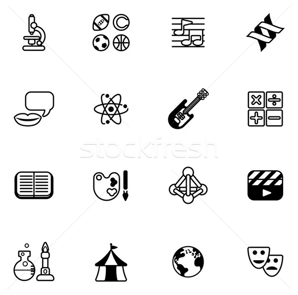 Education or quiz subject icons Stock photo © Krisdog