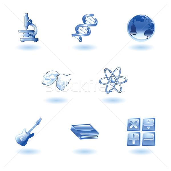 ストックフォト: 教育 · webアイコン · 科学 · 数学
