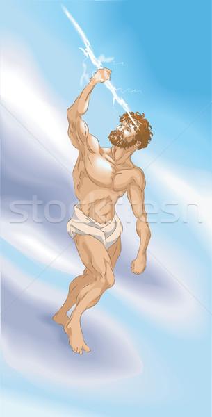 Zenusz klasszikus görög római mitológia villám Stock fotó © Krisdog