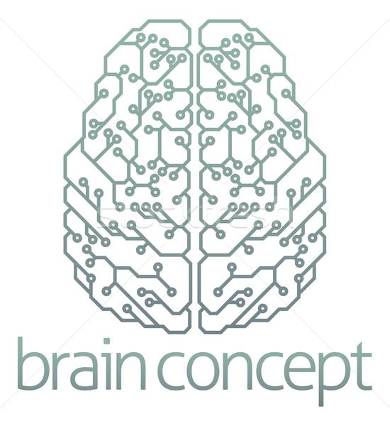 Brain computer circuit design Stock photo © Krisdog