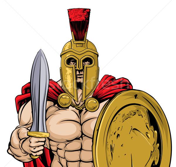 Spartaans gladiator oude Grieks trojaans Romeinse Stockfoto © Krisdog