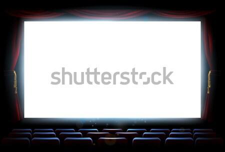 Cinema teatro tela ilustração interior filme Foto stock © Krisdog