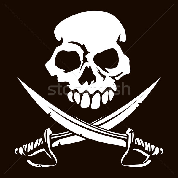 Stock photo: Skull and Crossed Swords