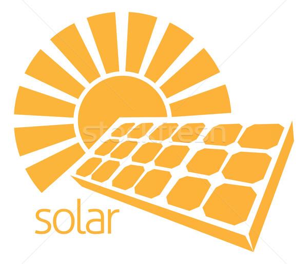 Solar Energy Panel Sun Concept Stock photo © Krisdog