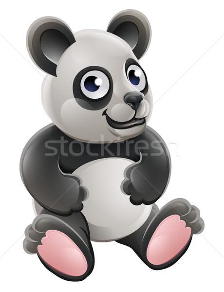 Desenho animado bonitinho panda tenha animal Foto stock © Krisdog