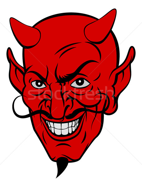 Devil Cartoon Face  Stock photo © Krisdog