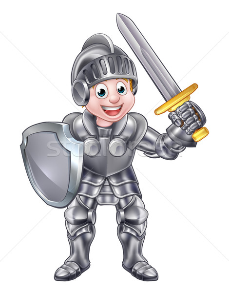 Cartoon Knight Boy Stock photo © Krisdog