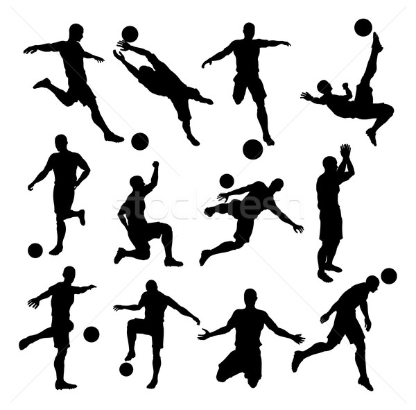 Soccer Footballer Silhouettes Stock photo © Krisdog