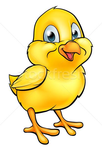 Karikatür Paskalya civciv sarı bebek tavuk Stok fotoğraf © Krisdog