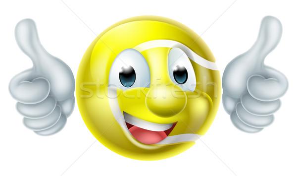 Cartoon Tennis Ball Character Stock photo © Krisdog