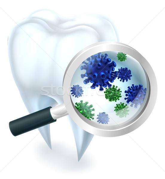 зубов бактерии медицинской стоматологических иллюстрация покрытый Сток-фото © Krisdog