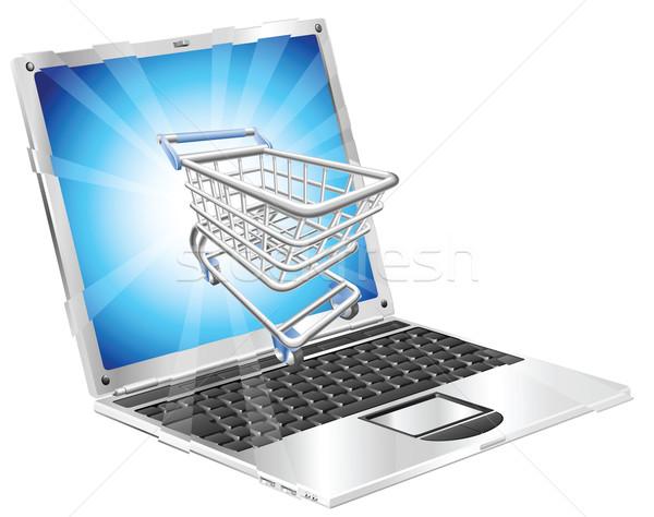 Internet shopping laptop concept Stock photo © Krisdog