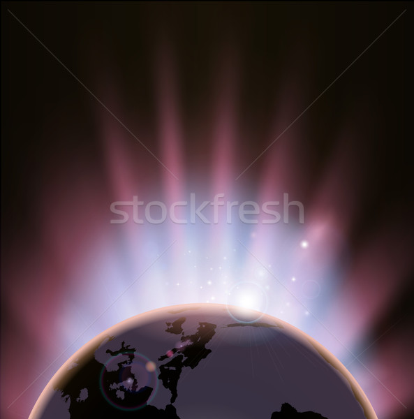 Eclipse globe concept background Stock photo © Krisdog