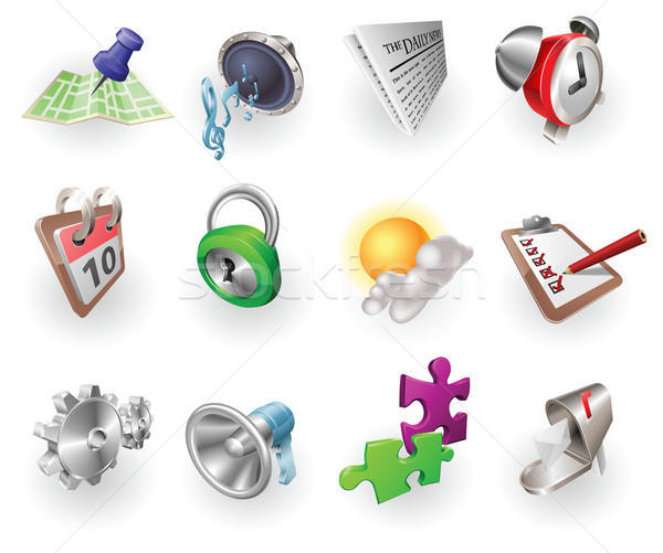 Dynamic Colour Web and Application Icon Set Stock photo © Krisdog