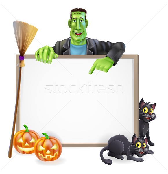 Frankenstein Halloween Sign Stock photo © Krisdog
