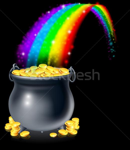 Pot of gold and rainbow Stock photo © Krisdog