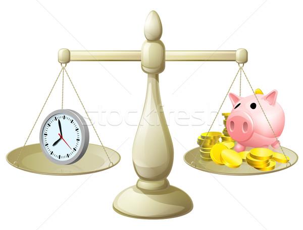Time money scales Stock photo © Krisdog