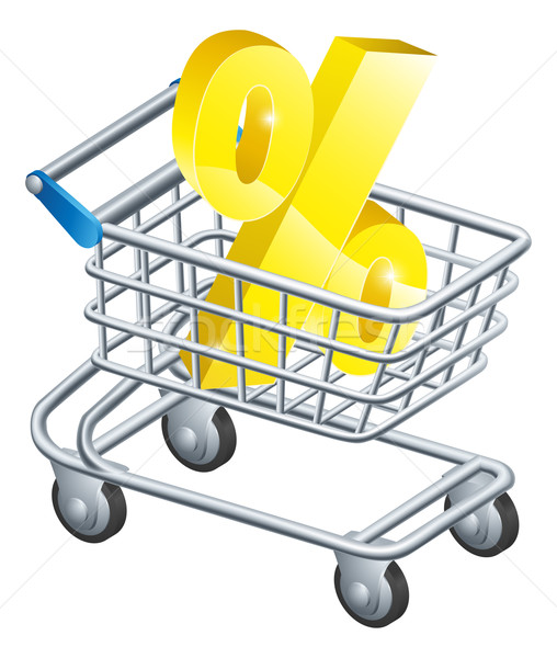 Percent rate shopping cart Stock photo © Krisdog