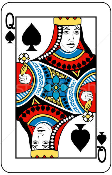 Regina picche giocare carta lettera nero Foto d'archivio © Krisdog