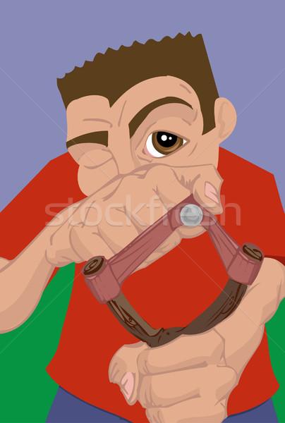 slingshot illustration Stock photo © Krisdog