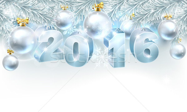 New Year Christmas Background 2016 Stock photo © Krisdog
