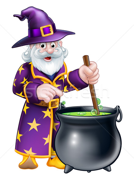 Cartoon Halloween Wizard Stock photo © Krisdog