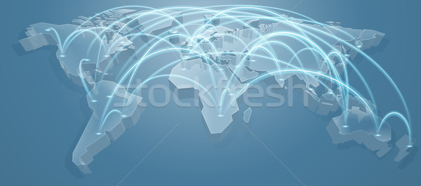 World Map Flight Path Background Stock photo © Krisdog