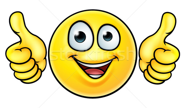 Emoji Thumbs Up Icon Stock photo © Krisdog