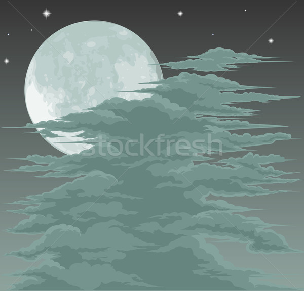 Spooky moonlit sky background Stock photo © Krisdog