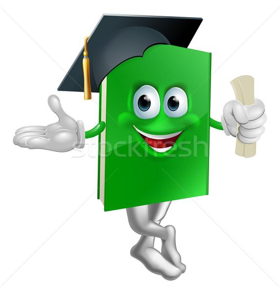 Graduate education book mascot Stock photo © Krisdog