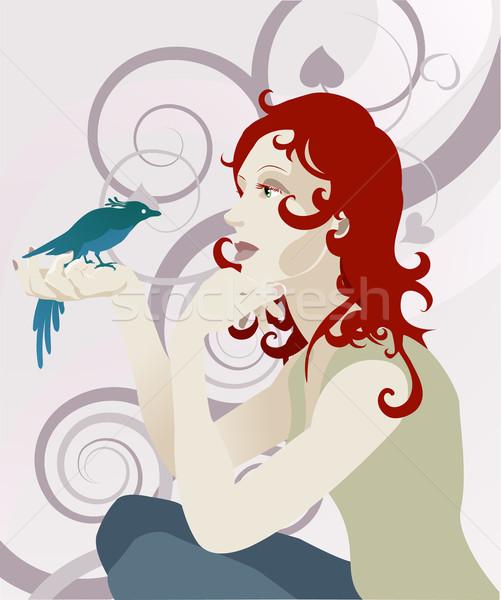 Woman and bird concept Stock photo © Krisdog