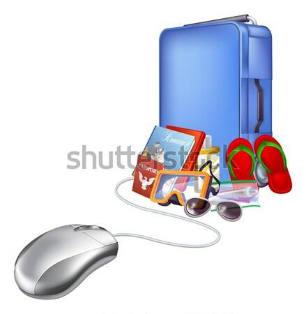 Trolley case and packing Stock photo © Krisdog
