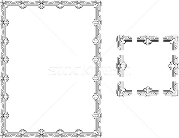 Art Deco borders Stock photo © Krisdog